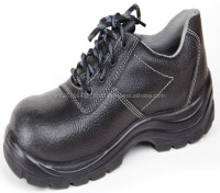 Safety Shoe Upper Buff Leather PU Sole Steel Toe