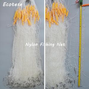 Nylon PA fishing net China white and green fishnet 3m 4m 6m high fishing net