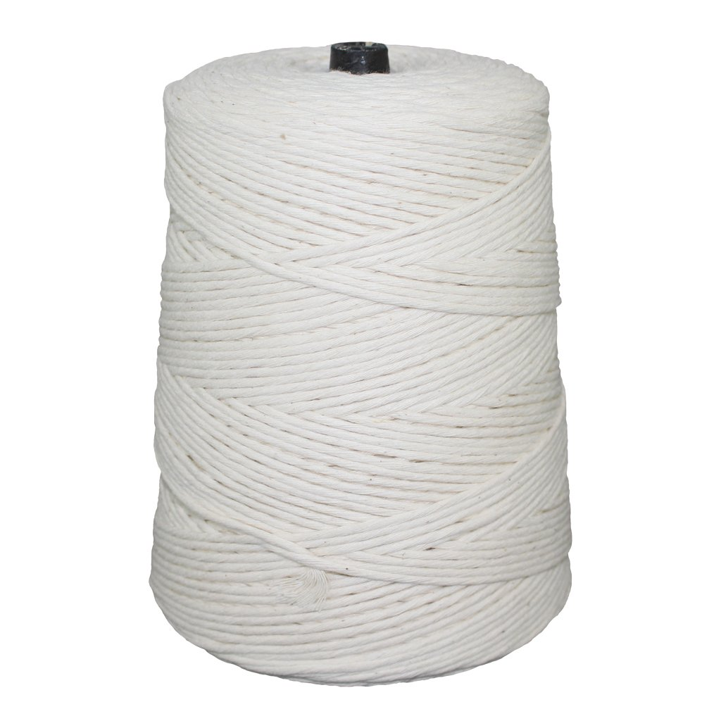 SGT KNOTS Cotton Butcher Twine 2 LB Cone - 4 ply, 8 ply, 12 ply, 16 ply, or 24 ply (24 ply - 1,680)