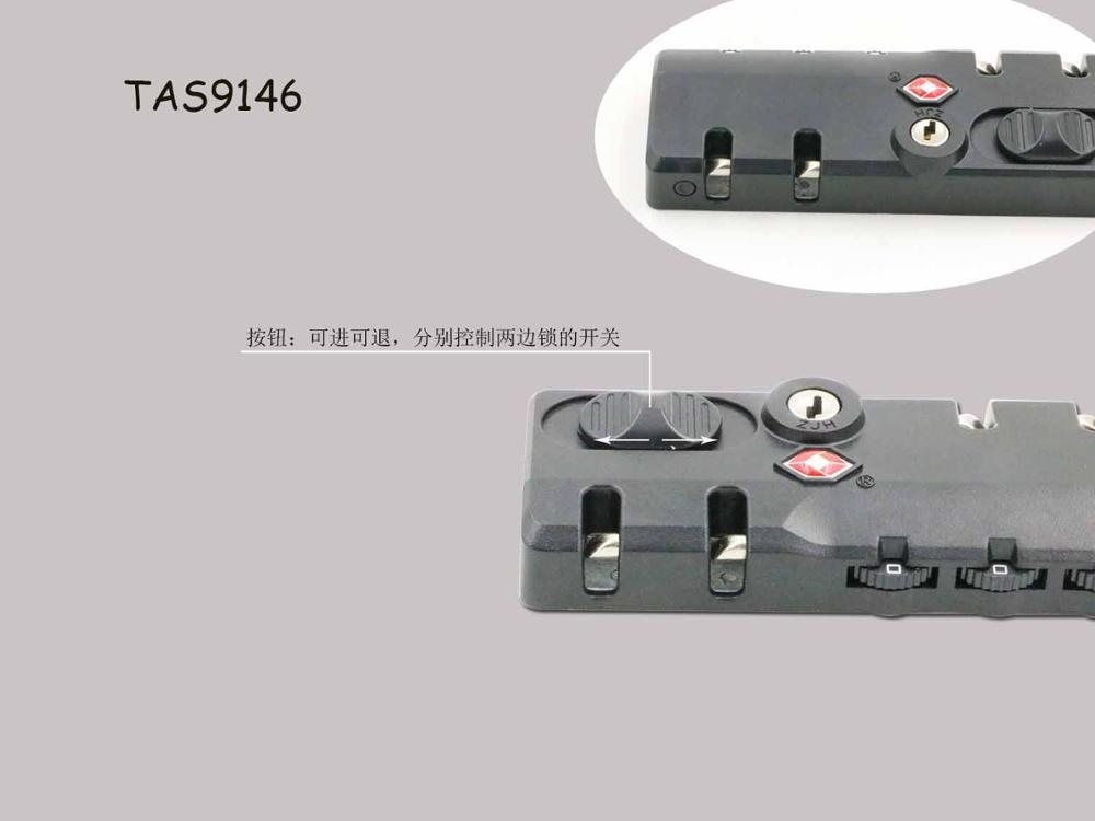 high quality TSA combination reset plastic luggage lock