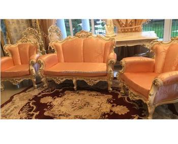Baroque Style Gold / Red Sofa Set / Livingroom Sofa - Buy Baroque ...