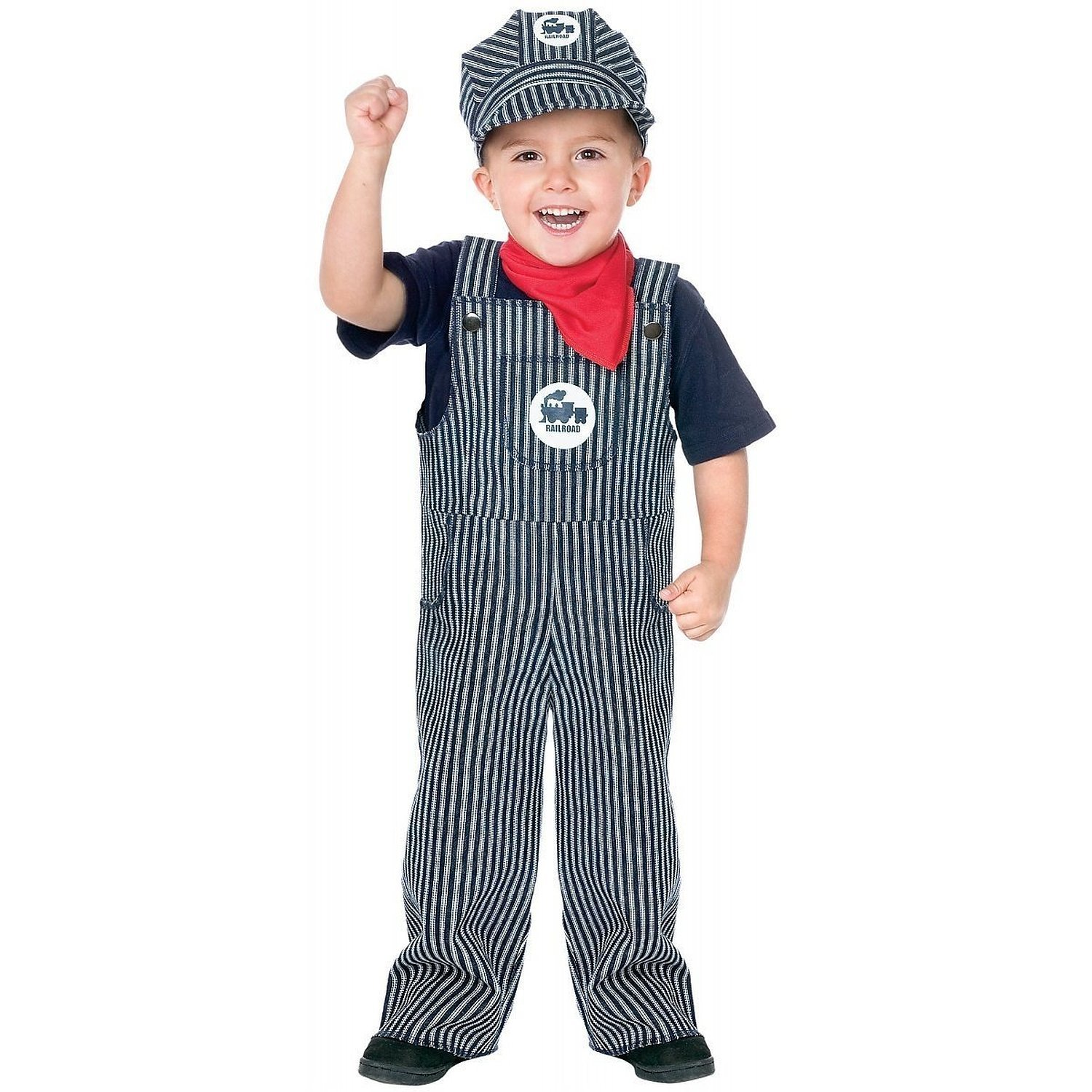 43a0ce9e4b3 Get Quotations · Fun World Child Costume Train Engineer Child Costume  (24m-2T)