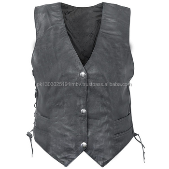 Women s sexy brown leather vest, naked jailbait girlies