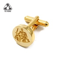 Premium Gold Plating Fashion Men's Cufflinks