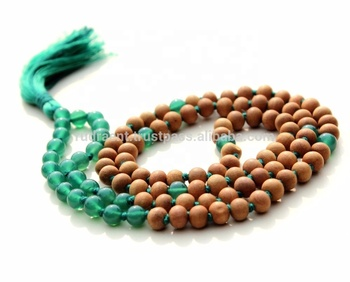 Green Onyx Spiritual Mala Beads Sandalwood 108 Beads Silk Tassel Knotted  Necklace - Buy Hindu Prayer Mala Beads,Tibetan Buddhist Mala Beads,Gemstone