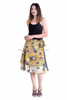 d605558ac46a Indian Latest rapron Design skirts party dress for women Knee Length Wrap  Skirts Summer Fashion Beach