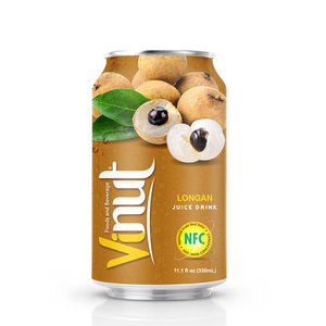330ml VINUT Canned Longan juice Fruit Juice 200Ml NO CHOLESTEROL Balanced blood pressure Distributors