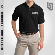 Cotton Polyester Custom Design Security Staff Polo Shirt with Embroidery