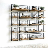Home Furniture Iron & Wood Display Shelf