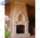 outdoor pink stone chimney mantels hearth big fireplace