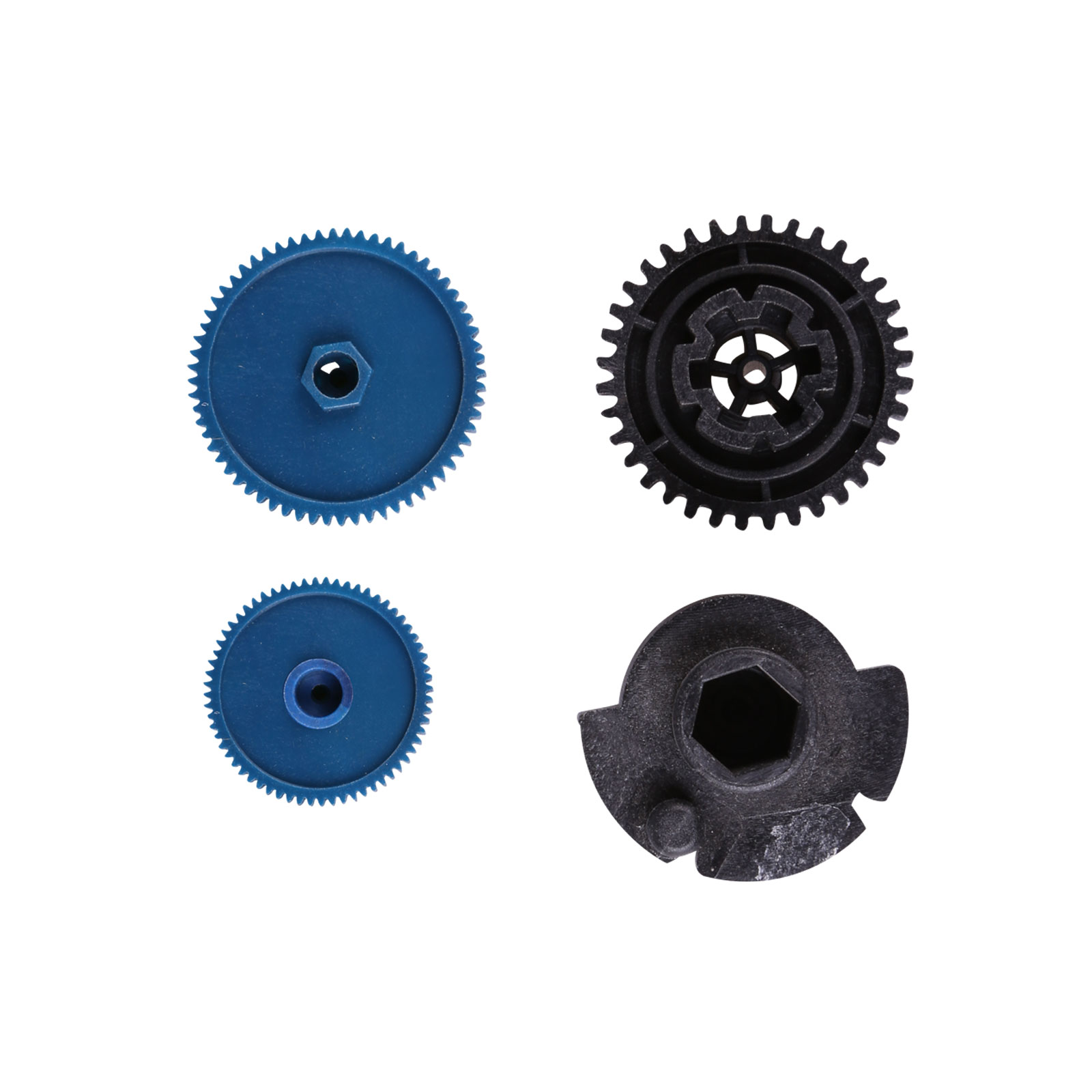 1x Air Conditioner Vent Flap Motor Gear Kit For Mercedes W203 W211 4 Piece Blue