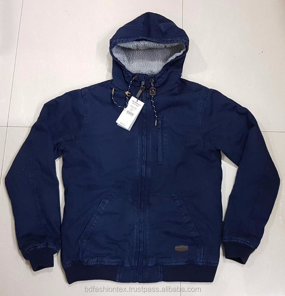 Mans cotton Padded Jacket with hood stock lot surplus in Bangladesh