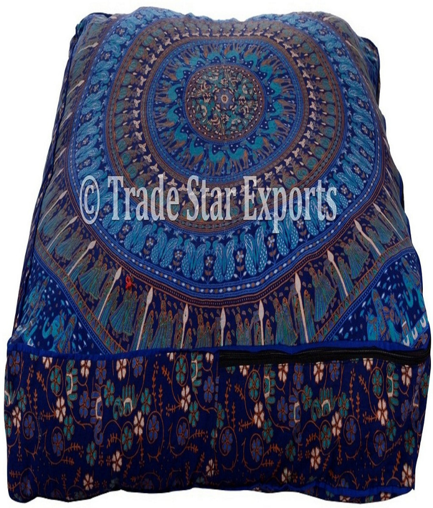 "35/""Indian Mandala Square Pouf Cushion Case Pet Cat Dog Bed Floor Pillow Cover"