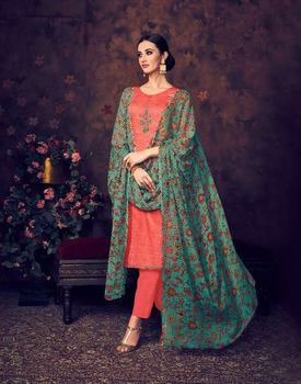 d190842d9e Depssy Baroque Cotton Silk Printed unstitched Ready to Wear 3 piece salwar  kameez salwar suit