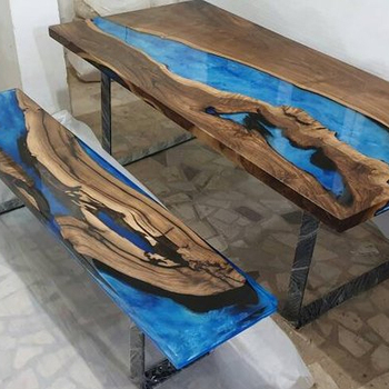 Cool Industrial Wood Epoxy Resin Antique Design Set Of Dining Table Or Bench Buy Set Of Dining Table And Bench Wooden Dining Table With Metal Leg Epoxy Machost Co Dining Chair Design Ideas Machostcouk