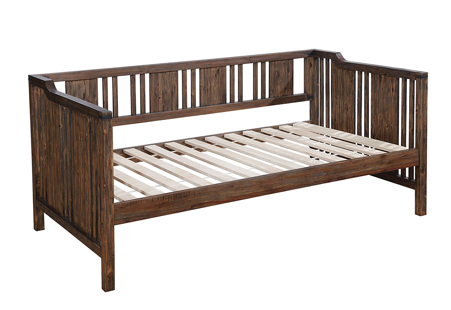 HOMES: Inside + Out Idf-1767 Remus Transitional Daybed, Twin, Dark Walnut