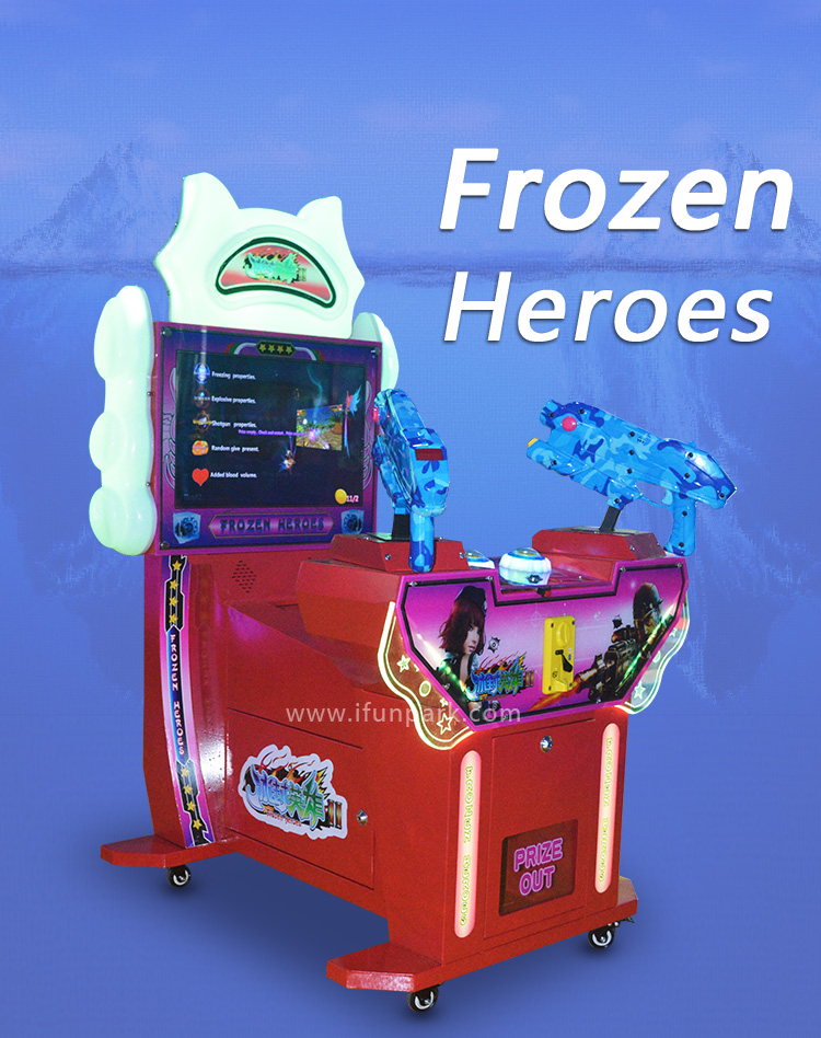New Frozen Heroes Shooting Coin Operated Game Consoles ...