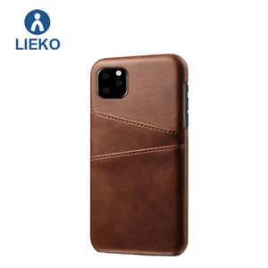 High quality back cover for iphone XI 11 case real leather card slot holder case for iphone XI 11 colorful leather case