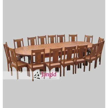 Luxury Sheesham Wood Oval Shape Extension Dining Table With Chair Set Office Conference Furniture