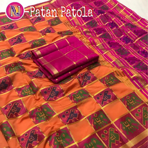 Silk Cotton Handloom Patola Saree