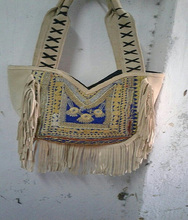 VINTAGE TRIBAL Hand Clutches, <span class=keywords><strong>Banjara</strong></span> Tragetaschen handtasche Hand mit Leder fringe <span class=keywords><strong>Banjara</strong></span> Gypsy tasche einkaufstasche