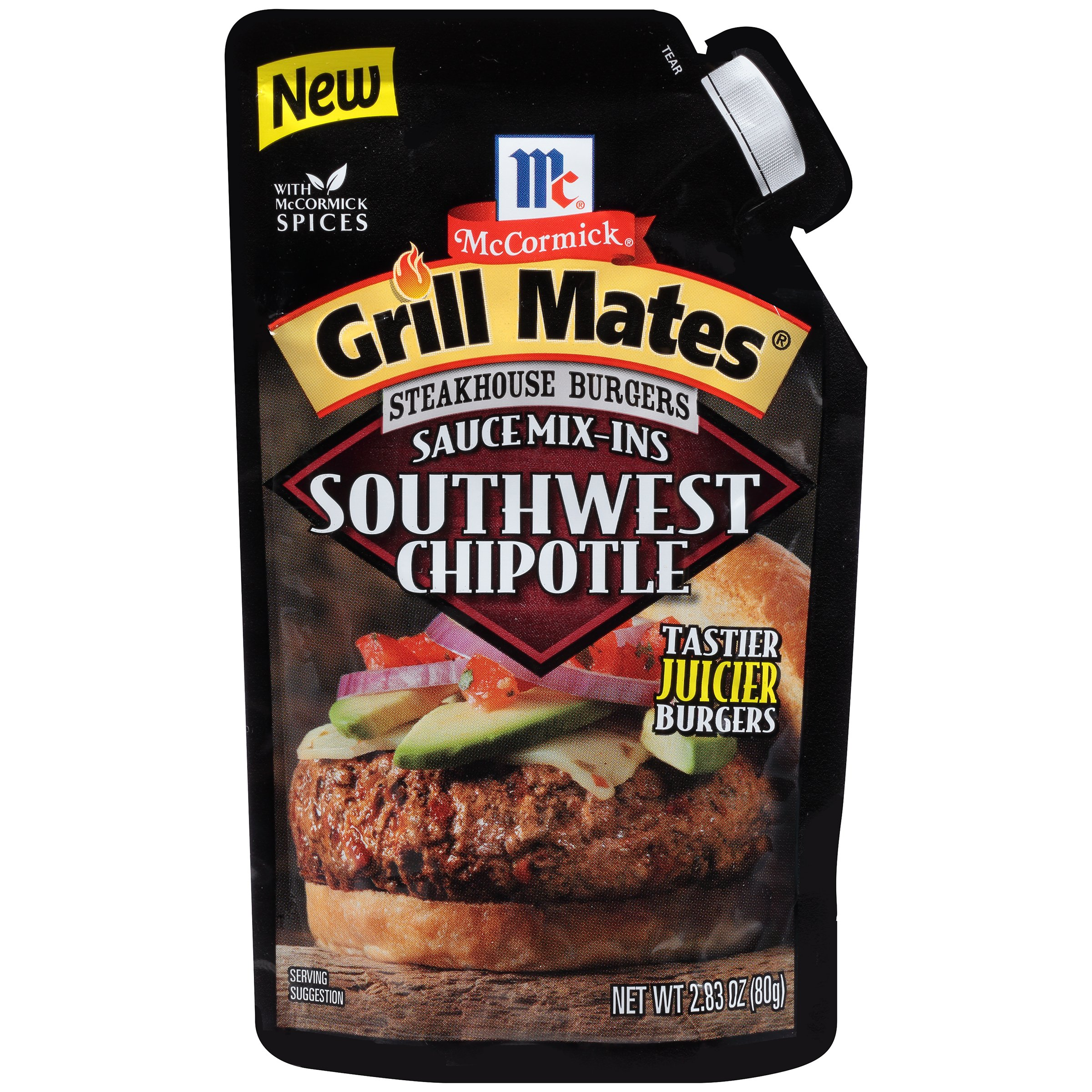 McCormick Grill Mates Steakhouse Burgers Sauce Mix Ins Southwest Chipotle, 2.83 Ounce (Pack of 6)