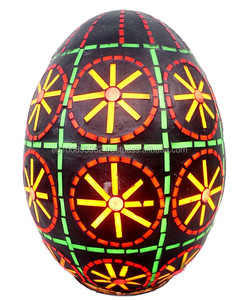 B127 Colored African Glass Egg Mosaic Table/Pendant Lamp