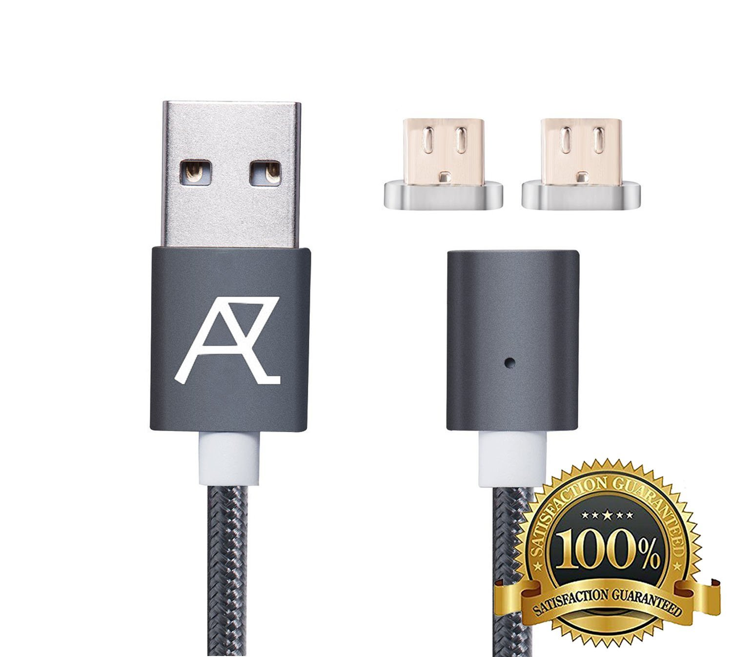 Magnetic Charging Cable - Magnetic Phone Charger - Micro USB Charger Cord - Fast Charging Cable Android - Quick Charger Cord - Magnetic Car Charger Cable - Magnetic Data Cable - Type C Charger Cable