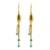 Capsule gold plated Earring