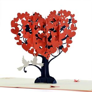 Loving Birds Heart Tree 3D pop up card Best greeting card for Valentine, Wedding, Mother Day Father Day