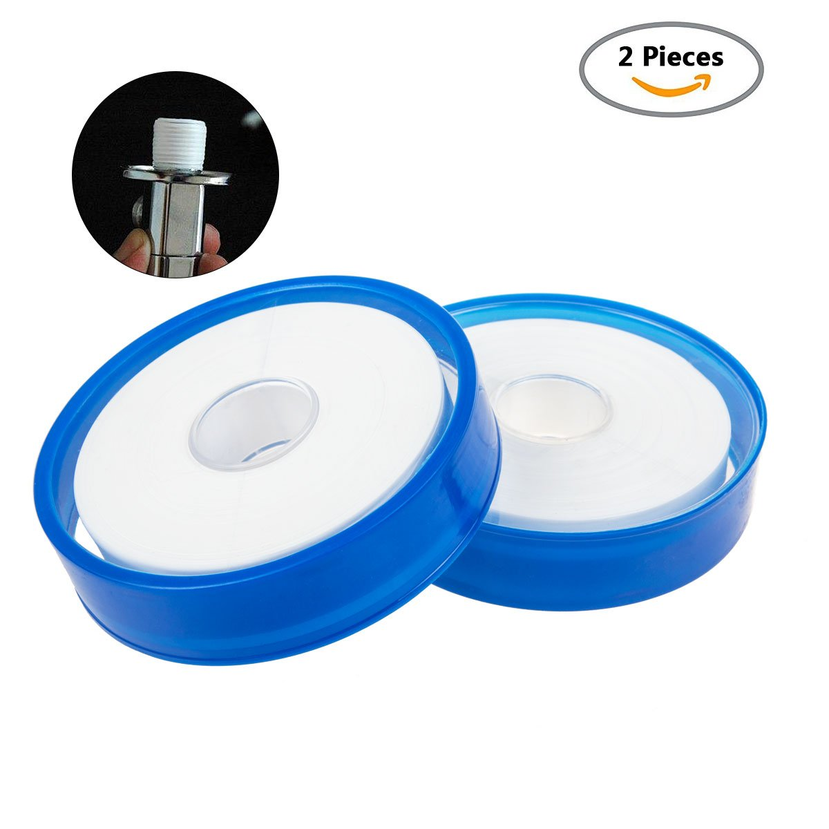 PTFE Thread Seal Tape, STARVAST Industrial Seal Teflon Gas Line Seal Tape For Fuel Lines, Leaky Water Pipe (328 Fts Length, 0.79 Inch Width, 2 Rolls White)