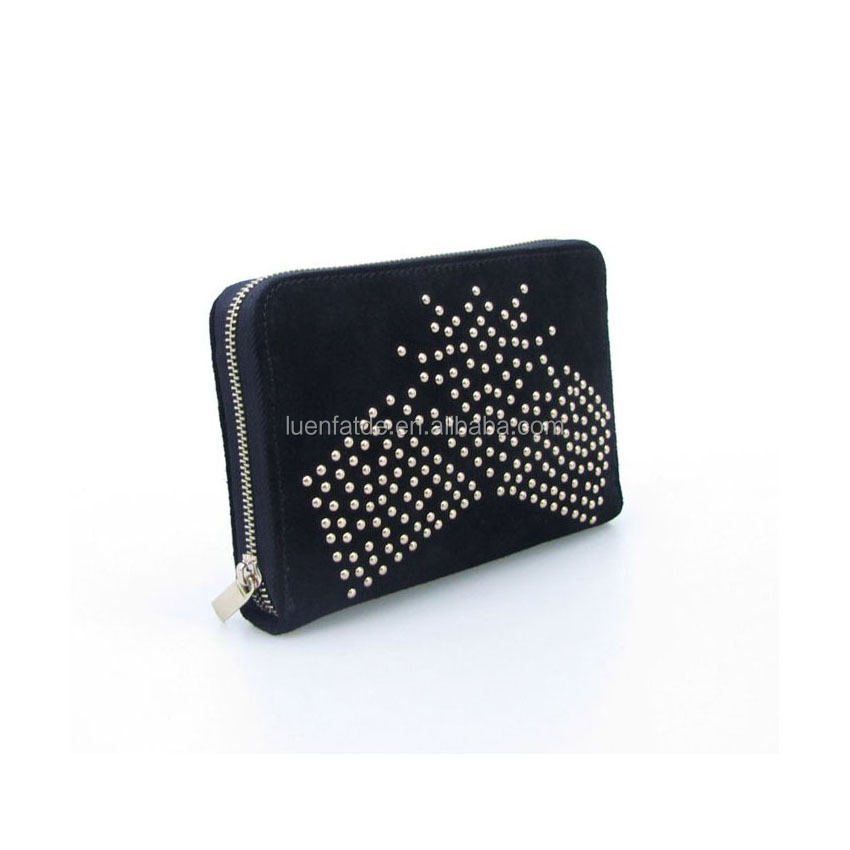 Lovely Suede Ladies Wallet Clutch Bag
