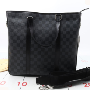 31e259c7a599 Used brand LOUIS VUITTON Tadao PM N41259 Graphite black handbag for bulk  sale.