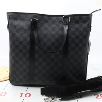 5dae19781e037 Used brand LOUIS VUITTON Tadao PM N41259 Graphite black handbag for bulk  sale.