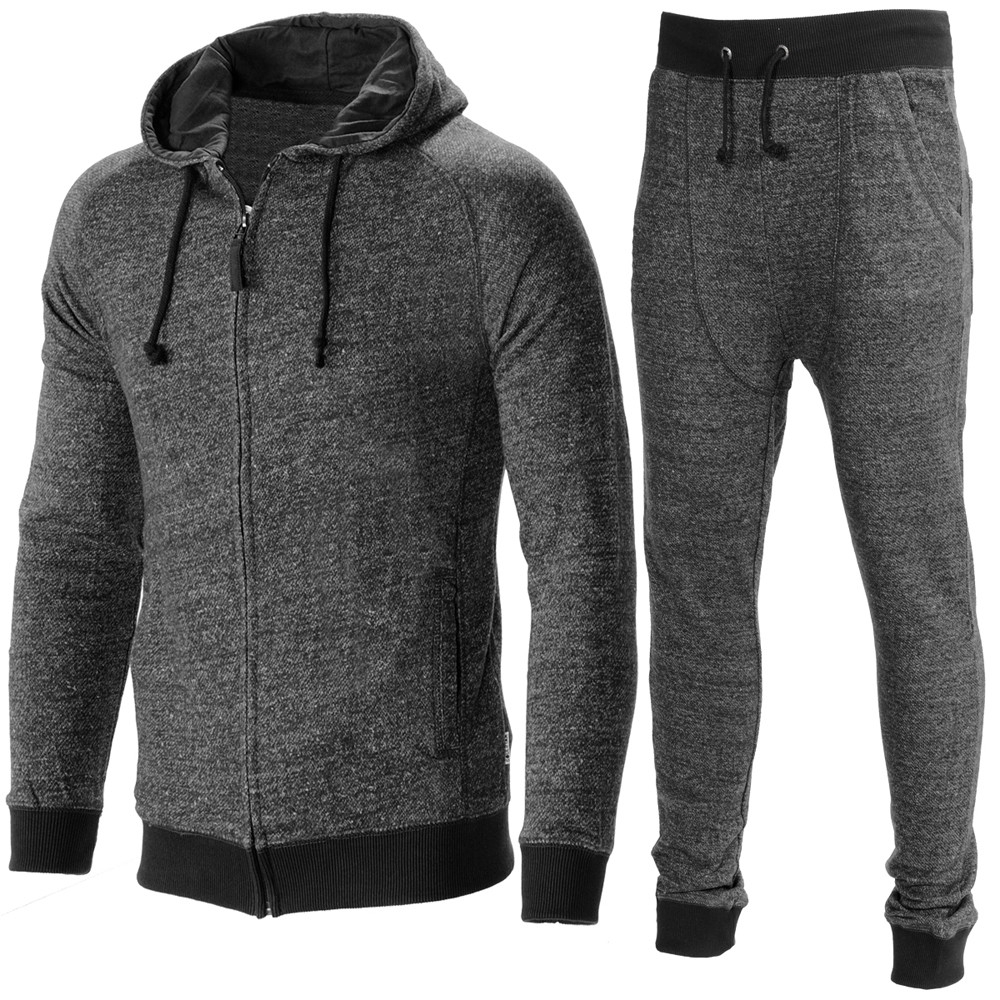 Wholesale Men Gym Casual Jogging Training Track Suits Grey