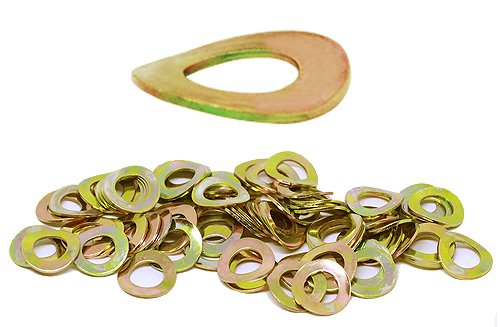 (75pcs) M8, 8mm Metric Wave Spring Steel Washer - DIN 137B, 15mm Outer Diameter Shiny Yellow Zinc by BelMetric WW8BYLW