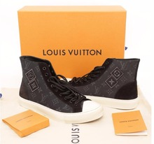Used and preowned branded LOUIS VUITTON Shoes Fragment sneakers high cut for sale in bulk.