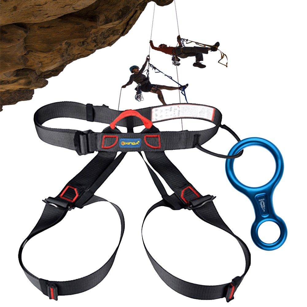 Safety 35kN Aluminum Figure 8 Descender for Climbing Rope   Rappelling