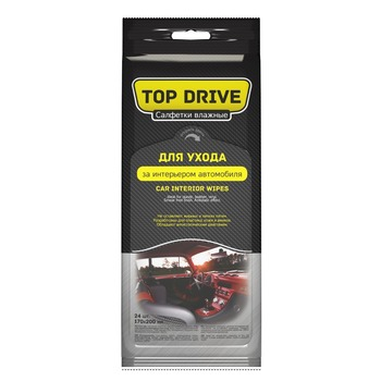 TOP DRIVE - Car wipes for plastic, leather, vinil