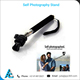 High Quality Self Photography Stick/Selfie Stick/Self Portrait Pole