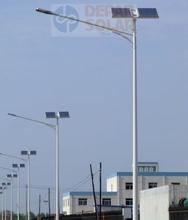 90W Solar Street Light with Advert Display 10m pole- TOKYO series single arm design homogenous lighting with adboard