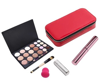 Red PU Cosmetic Box