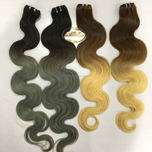 Hot selling Pre bonded 100% human hair weave VIETNAMESE remy hair ombre body wave hair color 16 inches