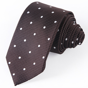 2018 Cheap Price Italian Brown Color Skinny Silk Neck Ties for Men