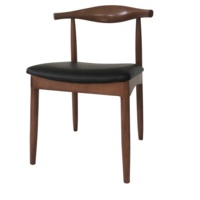 American style modern design leather wood chair restaurant furniture
