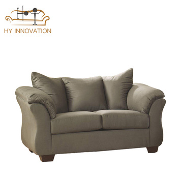Modern Design Sofa Living Room Furniture Linen Fabric 3 Seater