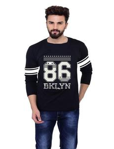 Men's Round Neck Full Sleeve Printed Cotton T-Shirt