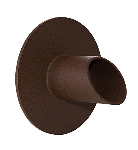 """Waverly 1.5"""" Round Water Fountain Spout Scupper Spillway Emitter for Pool, Pond, Water Feature, Etc - Brown Textured Rust"""