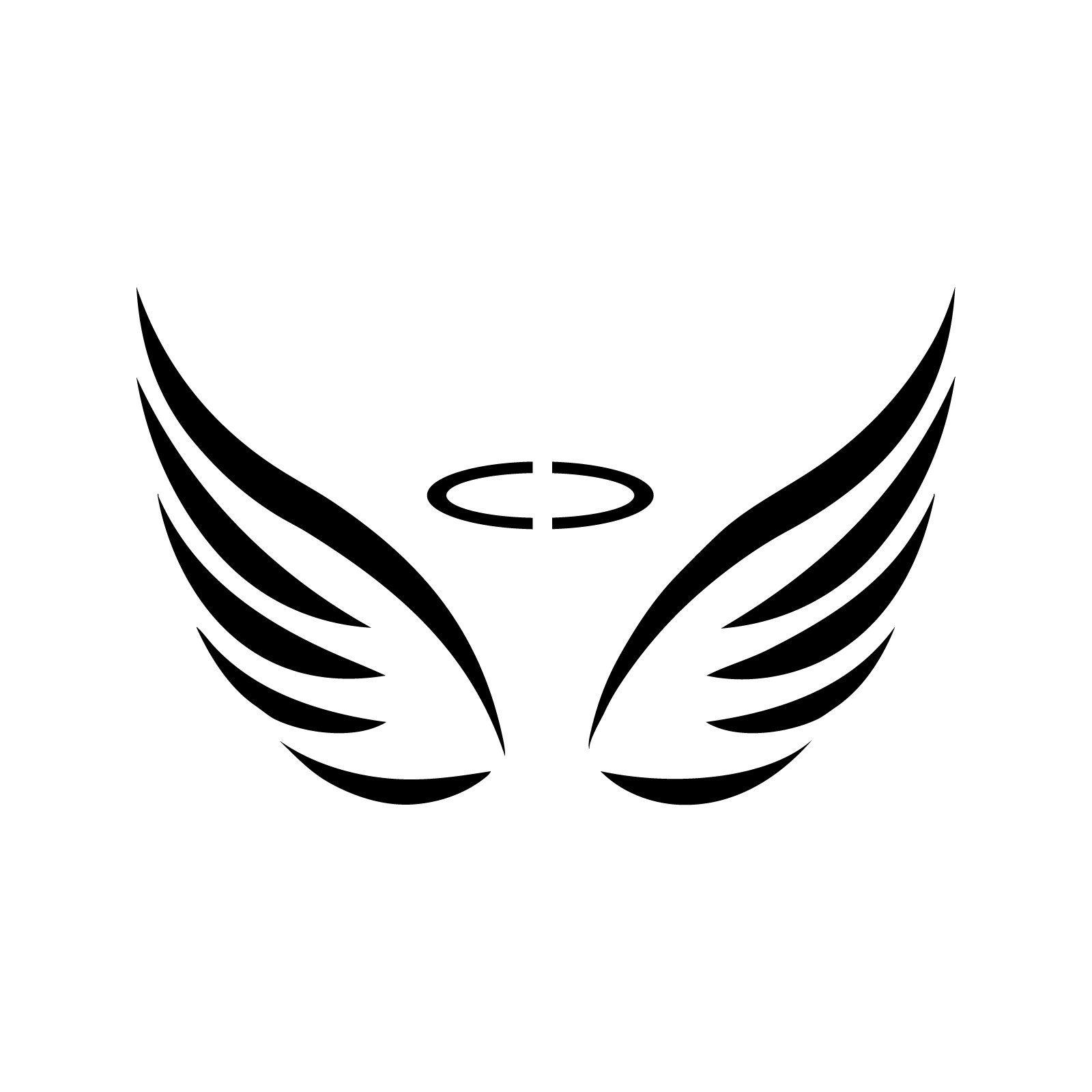 6be246672 Get Quotations · Angel Wings Stencil Template - Reusable Stencil with Multiple  Sizes Available