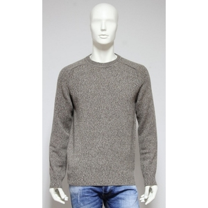 Long sleeve crew neck top regular fit pullover pure color knitwear men - Made in Italy